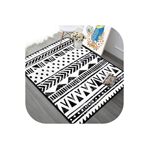 Modern Black/White Carpet Livingroom Home Decoration Bedroom Carpet Sofa Coffee Table Rug Study Room Floor Mat Kids Crawl Rugs,3,120x180cm