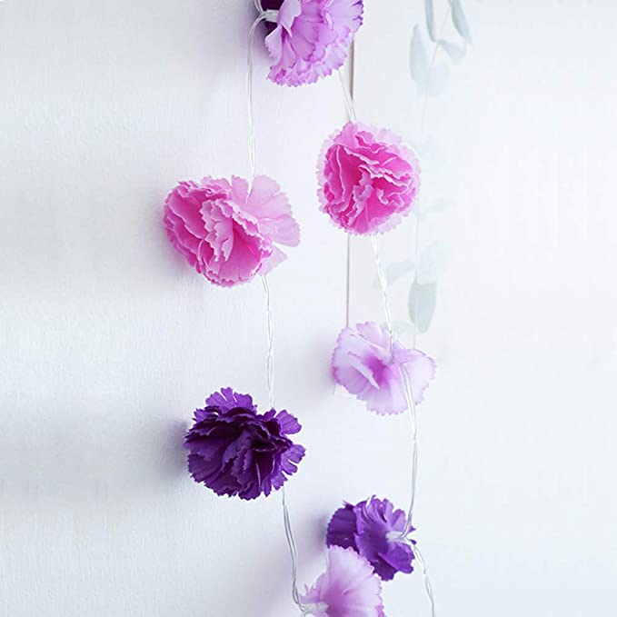 Amazon.com : PSFS 1.5m10LED Flower Light Small Silk Flower Christmas Room Decoration String Light (1, A) : Garden & Outdoor