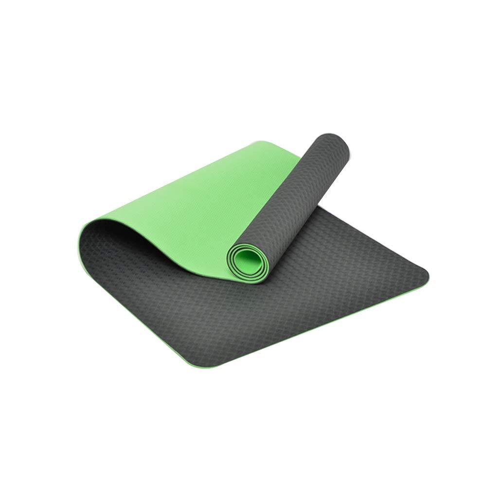 Bamboo Cyan ZEQUAN TPE Fitness Tapis de Yoga antidérapant résistant à l'humidité Tapis de Fitness pour Enfants Tapis de Jeu (Couleur   Le Vert foncé)