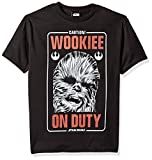 Star Wars Big Boys' Wookiee on Duty Caution Graphic Tee