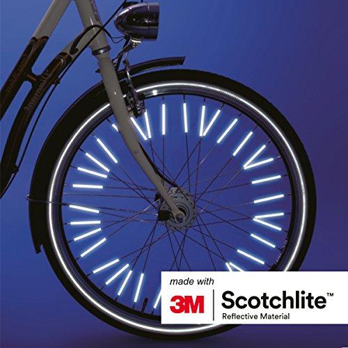 Salzmann 3M Scotchlite Hi Vis Spoke Reflector Bicycle Clips - 36 Pack by Salzmann (Image #3)