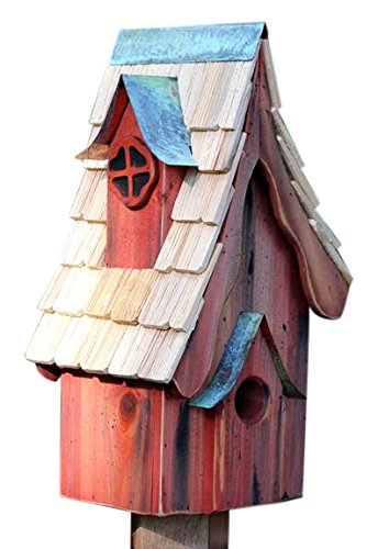 Heartwood 231A Boyds' Bungalow Bird House in Redwood Finish