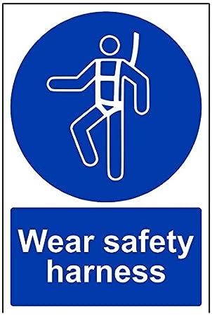 Vsafety 41093au S Mandatory Sign Self Adhesivewear Safety Harness