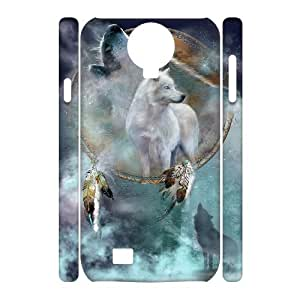 WJHSSB Cell phone Cases Wolf Howling Hard 3D Case For Samsung Galaxy S4 i9500