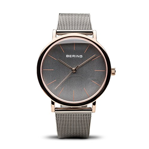 BERING Time 13436-369 Classic Collection Watch with Mesh Band and scratch resistant sapphire crystal. Designed in Denmark.