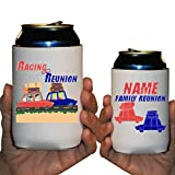 Custom Family Reunion Can Cooler Sleeves- Race To The Reunion Party Pack 12-16oz Can/Bottles Great For Family Reunion Parties (100)
