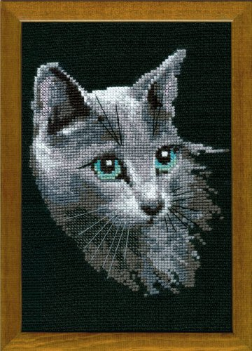 RIOLIS 10 Count Russian Blue Counted Cross Stitch Kit, 8.25