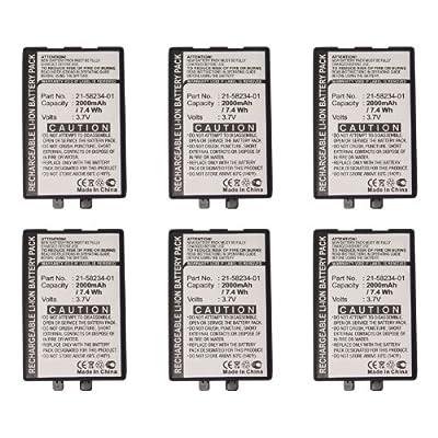 6pc Exell Li-Ion Barcode Scanner Battery Fits Symbol PDT8100, PDT8133, PDT8137 USA SHIP