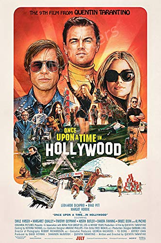 MCPosters - Once Upon A Time in Hollywood Quentin Tarantino Glossy Finish Movie Poster Certified Print by PosterTodayUSA - CIN016 (24