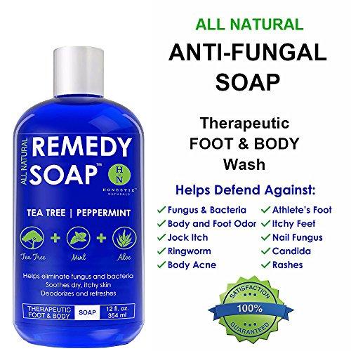 Remedy Antifungal Wash Away Athlete's Foot, Nail Ringworm, Jock Infections Skin 100% with Tea Tree Aloe 12 oz
