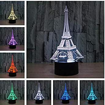 Pirámide Torre Eiffel Lámparas De Mesa Estatua De La Libertad Casa ...