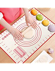 ProAussie Large Silicone Baking Mat for Rolling Dough (40x60cm) Pastry Mat with Measurements Non Stick Fondant Mat, Counter Mat, Oven Liner -Perfect Baking Tool for Making Bread, Cake, Pie & Desserts