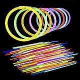 Lumistick 10 Inch Glow Sticks - Glow Sticks With Necklace and Bracelet Connectors - Glowstick Bundle Party Bracelets (100, Assorted)
