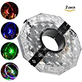 Warmtaste Bike Wheel Hub Lights, Waterproof 3 Modes LED Cycling Lights Rechargeable, Colorful Bicycle Spoke Lights for Safety Warning and Decoration Waterproof, Christmas Present