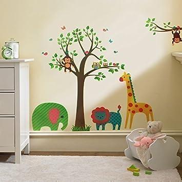 Walplus Wand Sticker Aufkleber Kunst Dekoration Tiere Baum ...