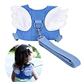 Baby Safety Walking Harness-Child Toddler Anti-Lost Belt Harness Reins with Leash Kids Assistant Strap Angel Wings Travel Backpack for 1-3 Years Boys and Girls(Blue)