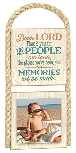 "Imagine Design 5.25"" x 11.5 People Gone Coastal Photo Dear Lord Thank You Plaque"