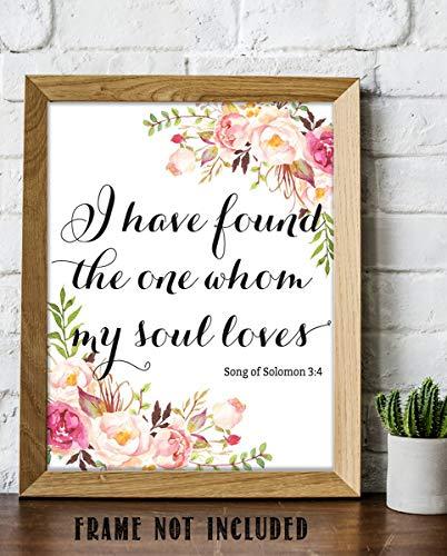 Song of Solomon 3:4- Bible Verse Wall Art Print- 8 x 10