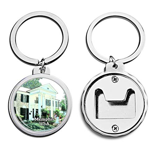 USA United States Bottle Opener Keychain Memphis America Mini Bottle Cap Opener Keychain Creative Crayon Drawing Crystal Key Chain Travel Souvenirs Metal