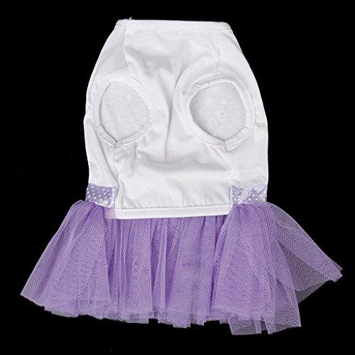 Usport Super Mignon Chiot Animal En Peluche Jupe En Dentelle Robe De Princesse Chien Taille M (violet)