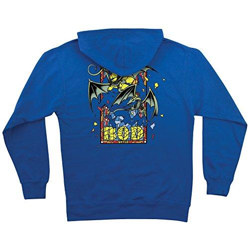 Santa Cruz Mens Bod Boyle Stained Glass Hoody Pullover Sweatshirt Large Royal/Blue (Santa Hoodie)