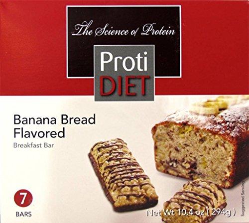 - ProtiDiet Banana Bread Bar (7 bars of 1.41 oz, net 10.4 oz) - High Protein Banana Bread Bar