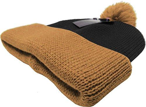 07d7ce5e47a KBW-30 BLK-KHK Solid POM POM Beanie Skull Cap Hat - Buy Online in ...