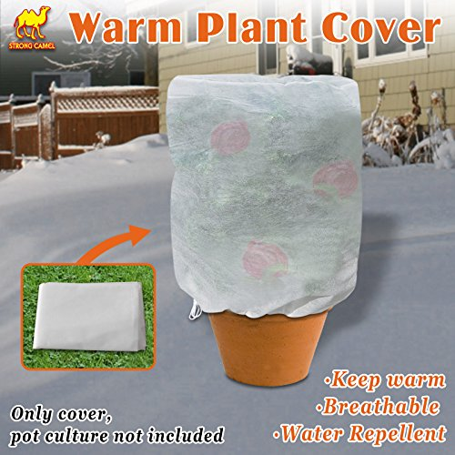 "Strong Camel Warm Worth Plant Cover Tree/Shrub Cover Plant Protecting &Frost Protection Bag (30"" H x 26"" Dia)"