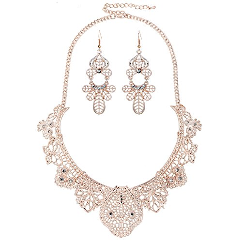 Rose Gold Necklace Set Amazoncom