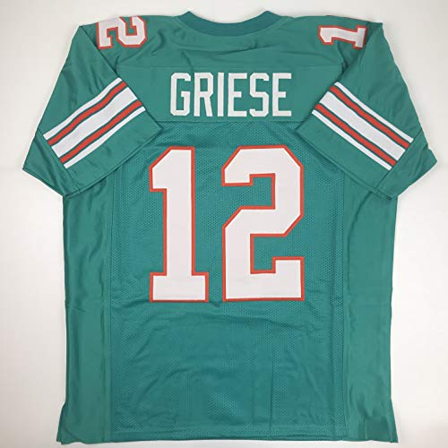 Unsigned Bob Griese Miami Green Custom Stitched Football Jersey Size XL New No Brands/Logos