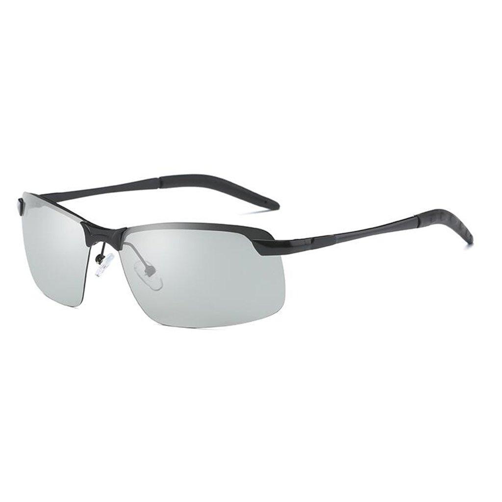 d0854b34df QZ HOME Gafas De Sol Día Y Noche Luz Polarizada Gafas Que Cambian De Color  Conducir Controladores Pescar (Color : La Plata): Amazon.es: Hogar
