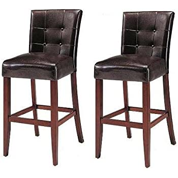 Amazon Com Set Of 2 Counter Height 24 Parsons Chairs