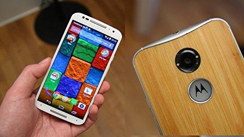 Motorola Moto X 16GB (2nd Gen 2014) - White Bamboo (SIM Free (Moto Phone 2014 Unlocked X)