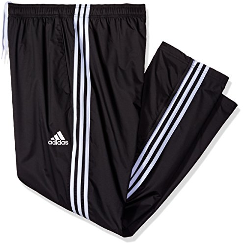 adidas Men's Athletics Essential Woven Pants (Extended Sizes), Black/White, Medium/Tall