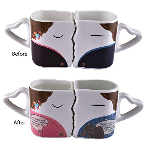 Magic Color Changing Heat Sensitive Morning Coffee Mug for couple