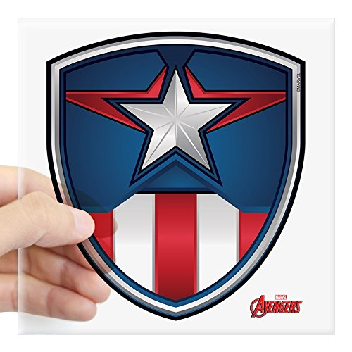 CafePress Cap Shield Square Sticker 3 X 3 Square Bumper Sticker Car Decal, 3