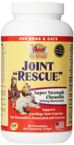 Ark Naturals Joint Rescue Super Strength (500 mg) for Dogs & Cats, 90-Chewable Tablets