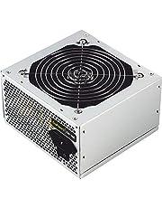 TooQ TQEP-500SSE-O - Fuente de Alimentacion Ecopower II de 500W, Ventilador silencioso de 120mm con control automatico de velocidad, (ATX 12V V1.3, CE/RoHS, color plata) Caja Blanca