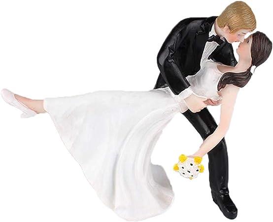Swirlcolor Gateau De Mariage Toppers Romantique Tango Danse Resine Dolls Maries Figurine Pour La Decoration De Gateau