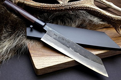 yoshihiro mizu yaki blue high carbon steel black forged kiritsuke japanese multipurpose chef. Black Bedroom Furniture Sets. Home Design Ideas