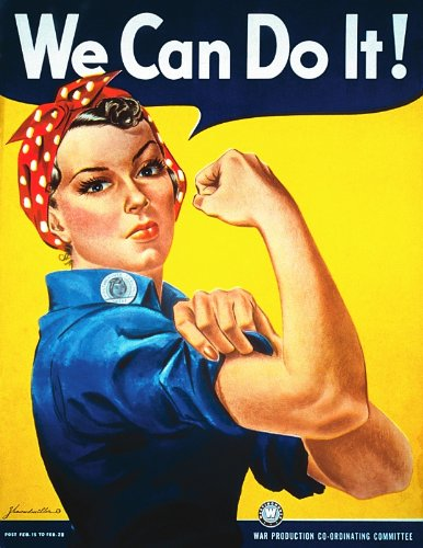 (Rosie The Riveter We Can Do It! WWII Photo USA Historical Photos 8x10)