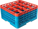 Carlisle  (RG16-4C412) 16 Compartment Glass Rack +4 - Orange/Carlisle Blue [Set of 2]