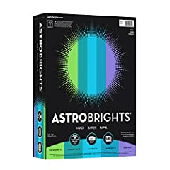 Astrobrights Colored Paper is 20% thicker than standard paper, so you can achieve bleed-free results for single and double-sided documents. Plus, this color copy paper saves money on pricey full-color ink, while acting as the perfect canvas. ...