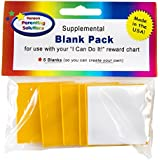 "Kenson Kids Blank Supplement (5) Pack - For ""I Can Do It!"" Magnetic Reward and Responsibility Chart. Blank Chore Pieces for Specific Goals and Tasks. Reusable. Great for Ages 3-10"