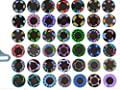 bicycle wheel light double display 42 flash pattern with 32 RGB LED Lights lamp for Bikes bicycles by coolshiny