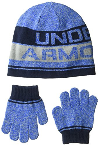 Under Armour Boys Knit Beanie and Gloves Combo
