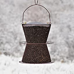 No/No BZHG00325 Bronze Hourglass Bird Feeder