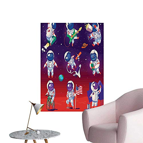 (Vinyl Wall Stickers Astr auts LIF tyle Space Work HAV Fun Play Guitar Navy Green Purple Perfectly Decorated,32