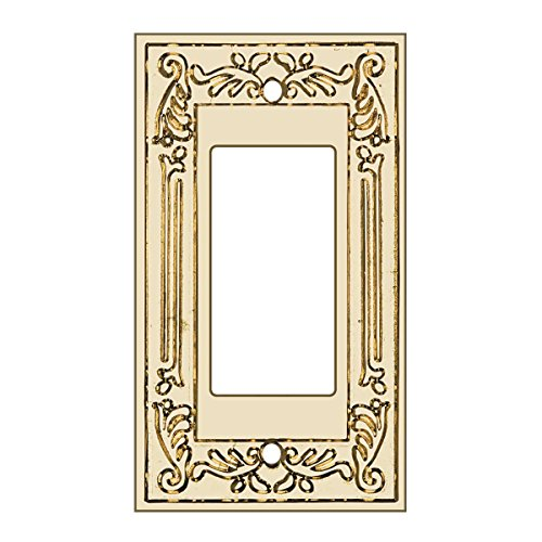 Victorian Switchplate GFI | Slide Dimmer PVD Solid Brass | Renovator's (Brass Victorian Switchplate)