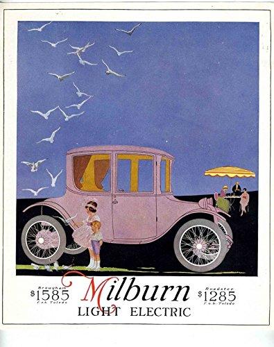 1918 MILBURN Light Electric Car Advertising Poster ORIGINAL - Original Advertising Poster